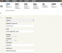 Vesta CP User Prefs Screen