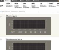 Vesta CP User Load Graphs Screen