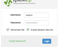 ZPanel Login Screen