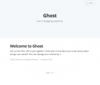 Ghost in the Docker container